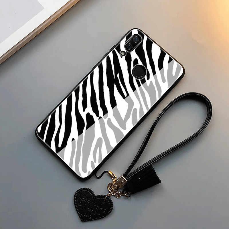 Роскошный леопардовый чехол для телефона с ремешком для iPhone XS Max 7 8 6S Plus, милый модный чехол зебра для huawei P20 pro mate 9 10 Lite