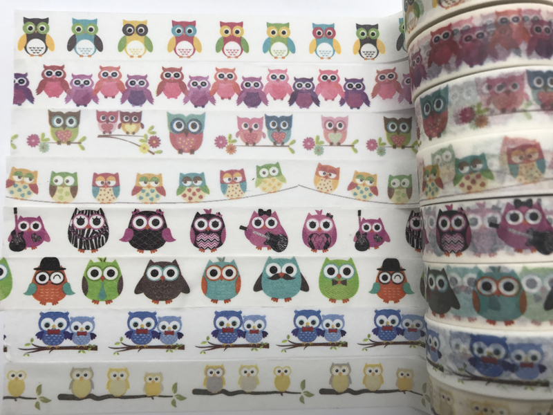 2017 hot seller gold diy tape jiataihe washi tape owl a bird