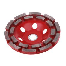 125mm Diamond Grinding Disc Diamond Disc Bowl Grinding Cup Double Row Grinding Disc Brick Concrete Cut for Angle Grinder