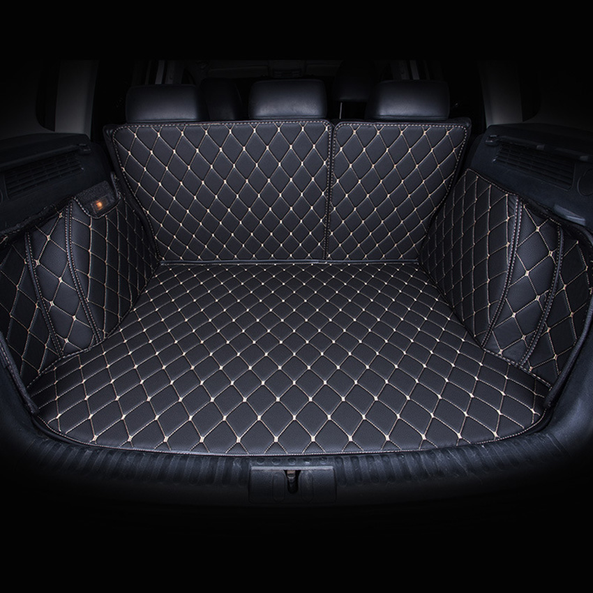 Car Trunk Mats Customized for VW Volkswagen Touareg POLO Golf 6 Golf 7 3D All Covered Waterproof Trunk Carpets