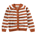 Kids Striped Cardigan 2016 New Fashion Knitted Cotton Children Sweater Autumn Winter Long Sleeve Outwear Size 18M-5Y GW21