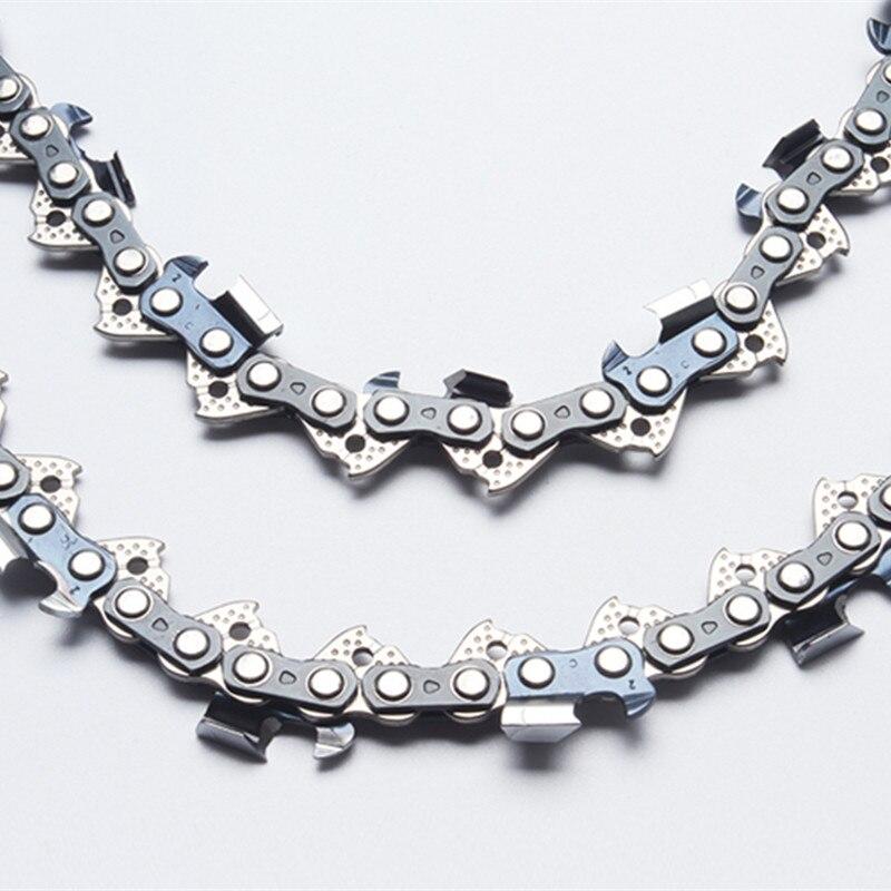 2 pièces meilleures chaînes de tronçonneuse de remplissage 3/8 pas. 050 (1.3mm) guage 72dl chaînes de scie à chaîne