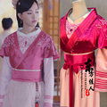 3 designs Princess Embroidery Costume for Newest TV Play The Princess WeiYoung Actress Tang Yan Women's Costume Hanfu Stage
