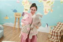 WYZHY down cotton elephant pillow plush toy sofa decoration to send friends and children gifts  80CM