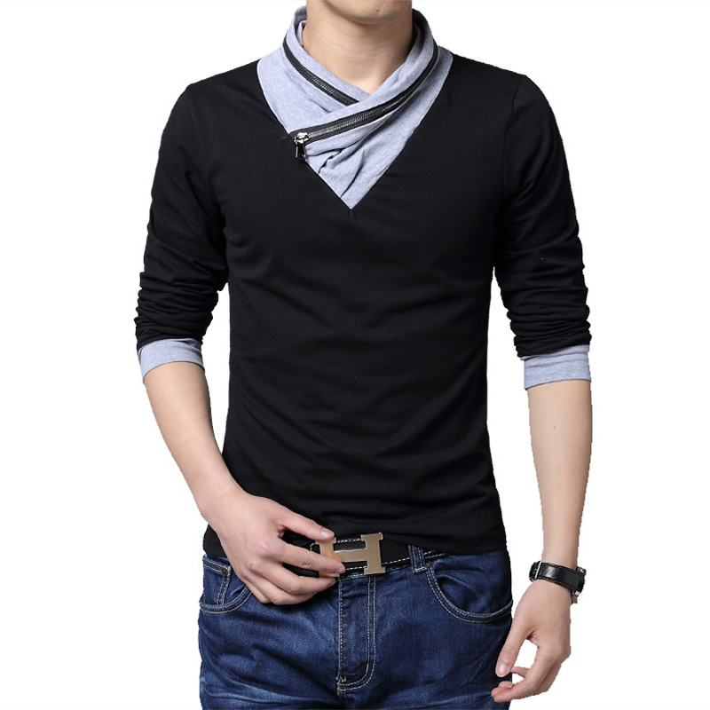 Aliexpress.com : Buy New Fashion Slim Fit Long Sleeve T Shirt Men ...