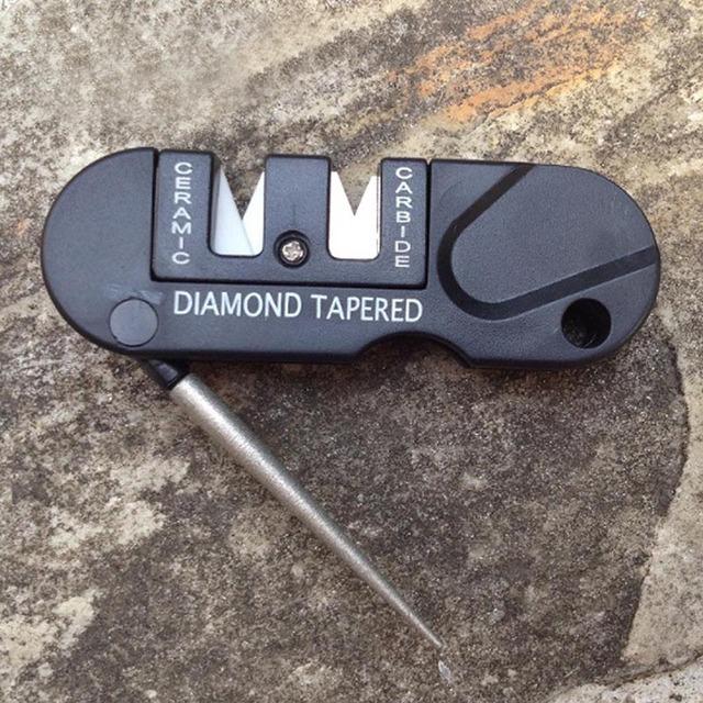Outdoor Portable Multifunctional Self Defense Tool Diamond Knife Sharpening Stone