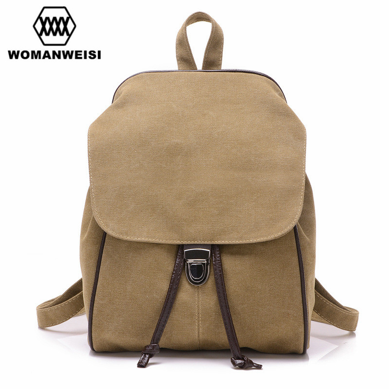 2017 Casual Women s Backpack Schoolbag Female Backpacks High Quality Canvas Women Preppy Style Bagpack For
