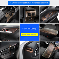QHCP Car Air Outlet Frame ABS Water Cup Panel Sticker Window Lift Buttons Frame Cover Auto Accessories Fit For Toyota Camry 2018