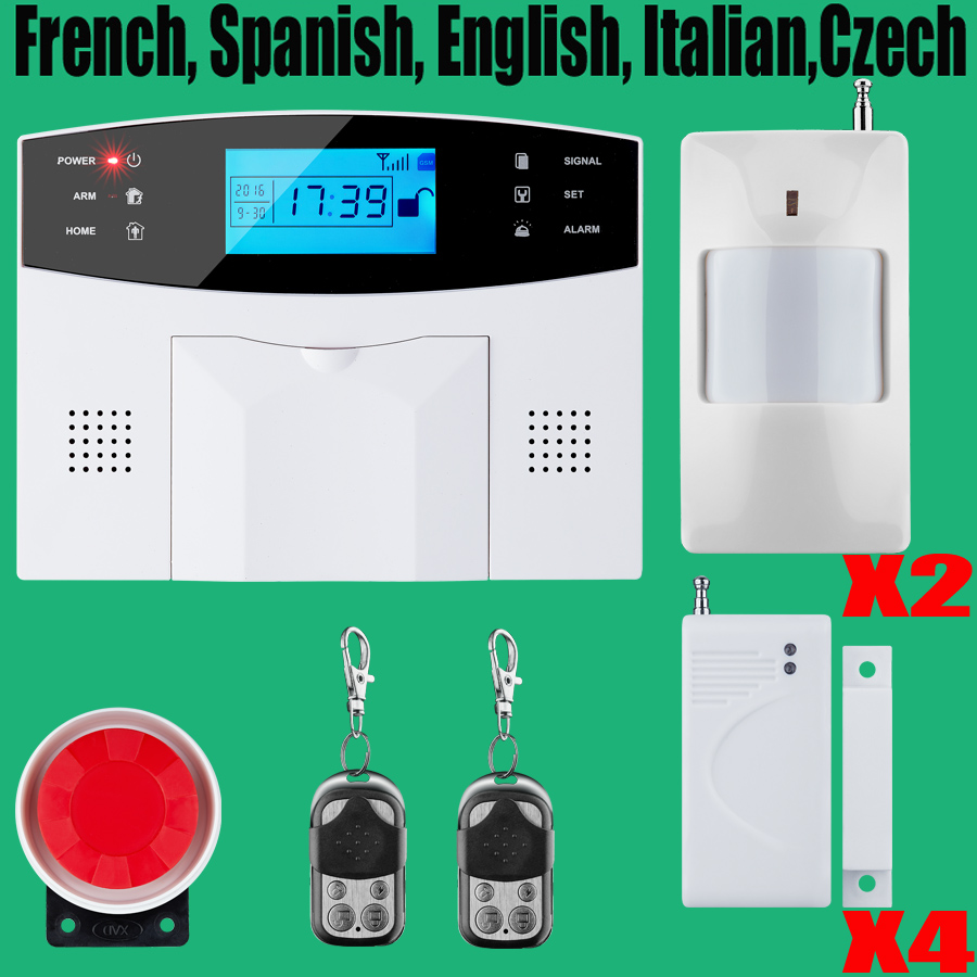 ФОТО Promotion for French, Spanish, English, Italian, polish,Czech Voice Wireless GSM Alarm Systems Security Home Alarm