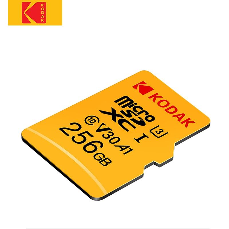 Kodak haute vitesse 256 GB Micro carte SD classe 10 U3 4 K cartao carte mémoire Flash 256 GB mecard Micro sd kart