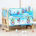 Baby Bedding Set for Crib Newborn pillow baby bedding crib set 100% cotton sheet/pad crib bumper baby cot sets baby bed bumper