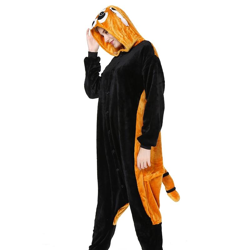 Winter Animal   Pajamas     Set   Kigurumi Pink Pig Pyjamas Women Men Adult Warm Flannel Panda Sleepwear Unisex Hooded Onesie 2019 New