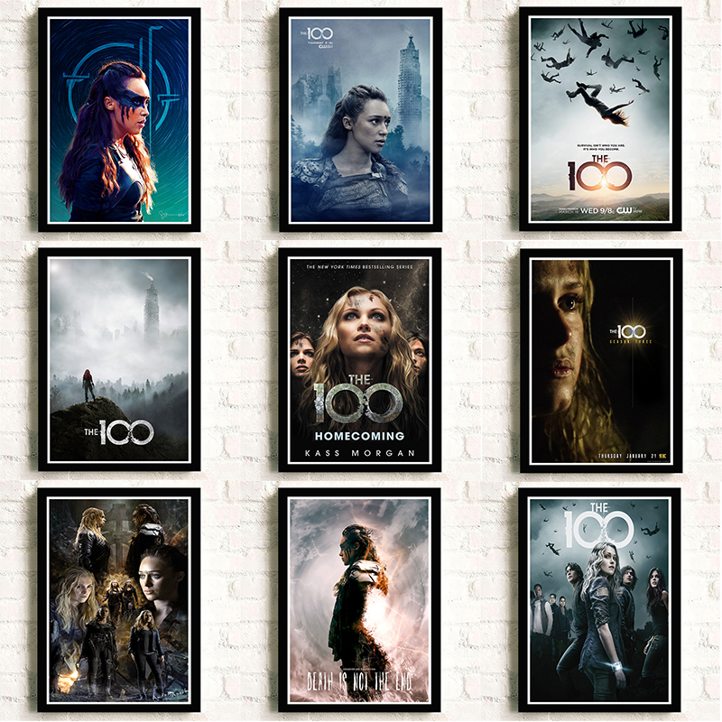 The 100 Poster Clear Image Wall Stickers Home Decoration High Quality Prints White Kraft Paper Home Art Brand