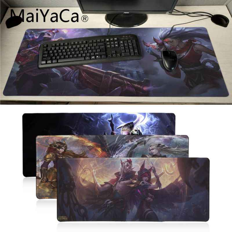 Maiyaca Lunare Dea Diana League of Legends Anime Mouse Zerbino Gaming Mouse Pad Gamer Mouse pad Anime Mousepad Zerbino Velocità versione