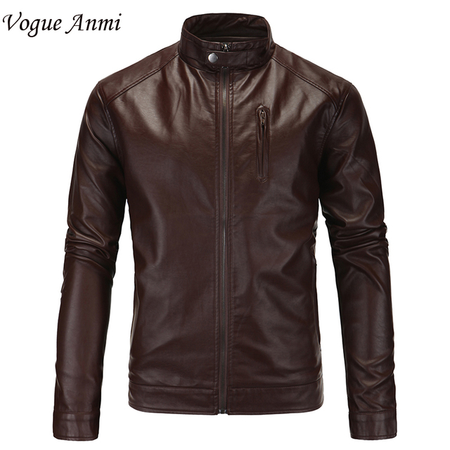 2016 New Arrivals Winter Autumn Brand PU Leather Jacket Men Motorcycle Leather Jackets Overcoat Jaqueta High Quality Size M-5XL