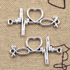 6pcs Charms ECG Link...