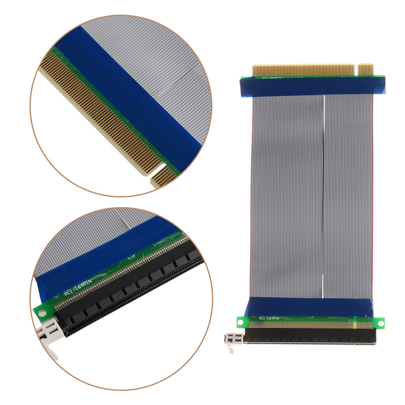 BGEKTOTH High Quality New Riser Extender PCI-E 16X to 16X Riser Extender Card Adapter <font><b>PCIe</b></font> 16X PCI Express Flexible Cable -R179 image