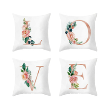 18Inch Love Letter Floral Printing Pillow Case Throw Cushion Cover Sofa Decor Wedding Home