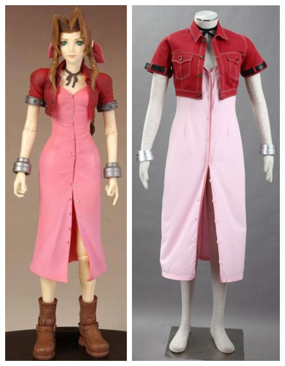 Final Fantasy VII  Aerith Gainsborough cosplay costumes halloween