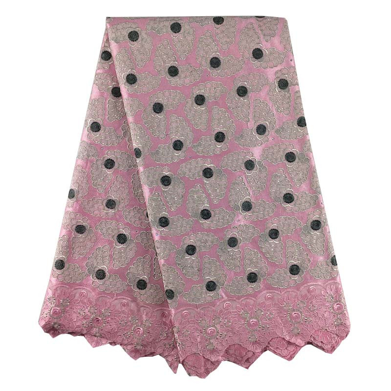 African Lace Fabric 082 Pink High Quality Lace Women Swiss Voile Lace In Switzerland High Quality