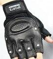 Men half-finger leather gloves sheepskin gloves driving gloves outdoor sports gloves slip palm design special offer