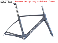 soloteam carbon frame bicycle Carbon Aero Road Bike Frame road bike carbon frame Road Bike For Sale OEM custom design