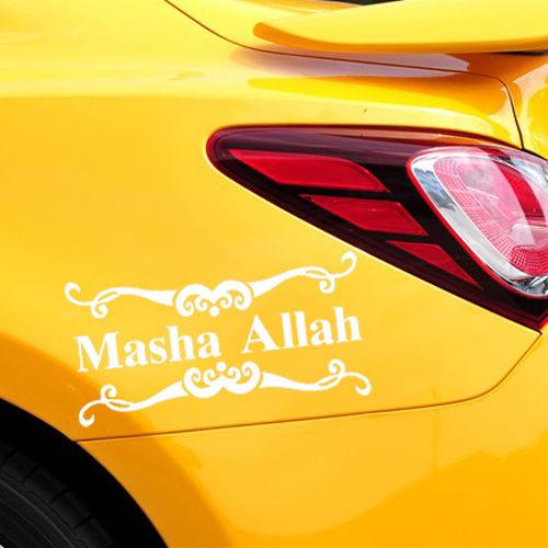 Vinyl Calligraphy Quotes Car Sticker Masha Allah Car Body Art Decoration Car Sticker Waterproof Car Decal Y-469 car