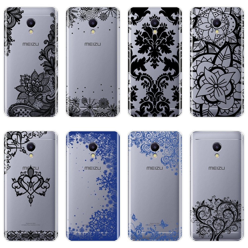 TPU Phone Case For <font><b>Meizu</b></font> M6 M6S M6T M5 M5C M5S M3 <font><b>M3S</b></font> M2 Silicone Soft Aesthetic Lace Sexy <font><b>Back</b></font> <font><b>Cover</b></font> For <font><b>Meizu</b></font> M2 M3 M5 M6 Note image