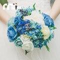 Западной Buque Де Noiva 2016 Искусственный Свадебные Букеты невесты Рука Цветок Рамос Де Novia Высокое Качество Брошь Букет