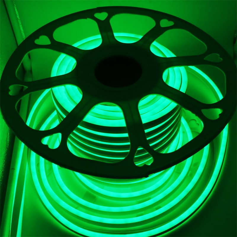 220 В 12 В неоновый светодиодный полосы 2835 120 светодиодный S/M IP65 Водонепроницаемый открытый гибкий светодиодный неоновые трубки ленты света с ЕС Мощность адаптер - 6