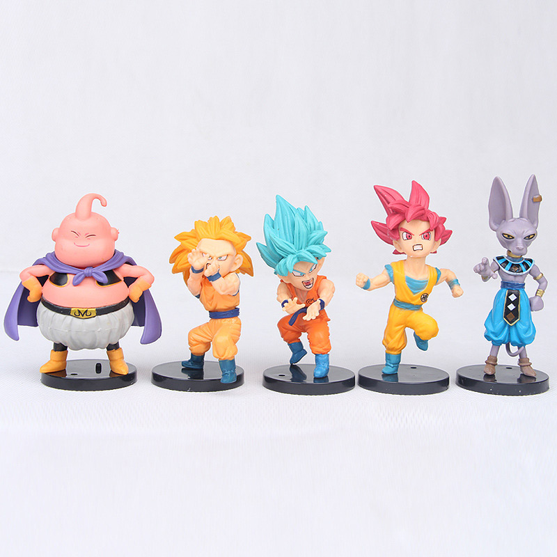 Action & Toy Figures Painstaking 10pcs/lot Dragon Ball Z Figure Toy Goku Vegeta Super Saiyan God Hercule Frieza Buu Beerus Whis Anime Dbz Mini Model Dolls 5-10cm High Quality Goods