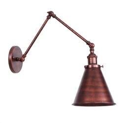 Ржавый Американская деревня настенный светильник E27 лампа с абажуром Спальня железная стена света ресторан-бар настенный светильник led RWL0021