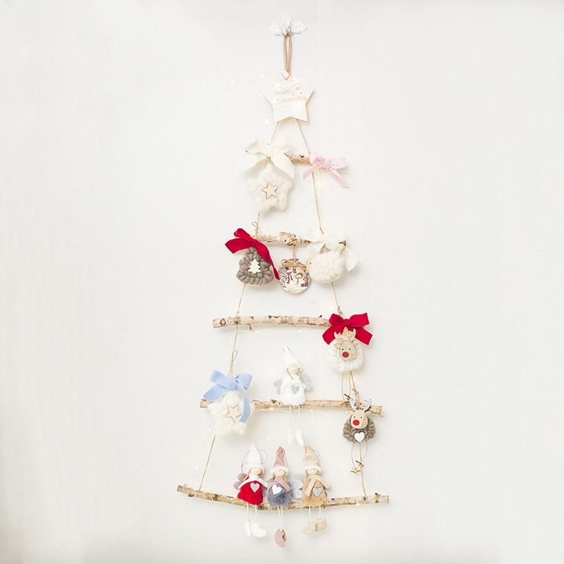 2-10 pièces créatif nordique en bois éclairage de noël suspendus décor mignon enfants chambre salon décor à la maison vacances bricolage décorations