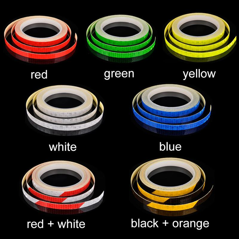 Waterproof Bicycle reflector Fluorescent MTB Bike Bicycle Sticker Cycling Wheel Rim Reflective Stickers Decal Accessories #928