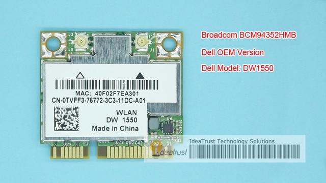 BCM94352HMB DW1550 802.11ac 867 Mbps AC 2.4 & 5G BT4.0 WiFi Placa de Rede Sem Fio suporte para Mac os