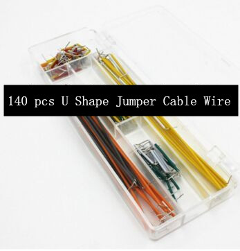5lot U Shape Solderless Breadboard Jumper Cable Wire Kit For Arduino Shield And Raspberry Pi DIY