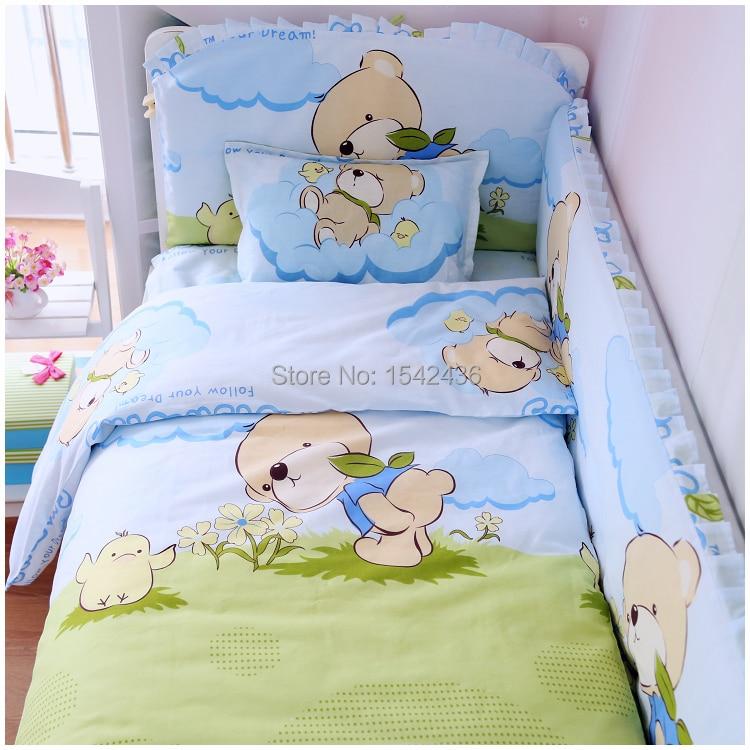 2017 Baby Bedding Sets Crib Bed Set Cover 7pcs Per Free Shipping