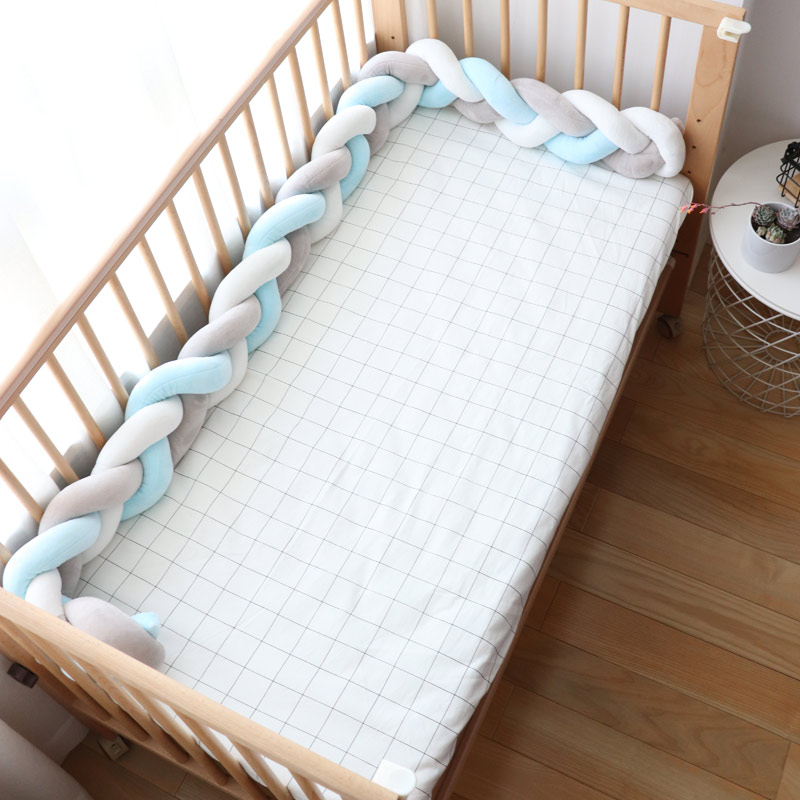 Baby Bumpers In The Crib Protector For Newborns Nodic Baby Room Decor Children Braid Cot Bumper For Cradle Stroller Infant Bed