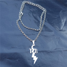 Buy tcb elvis and get free shipping on aliexpress 12pcslot women fashion stainless steel pendant tcb elvis presley necklace link chain jewelry mozeypictures Gallery
