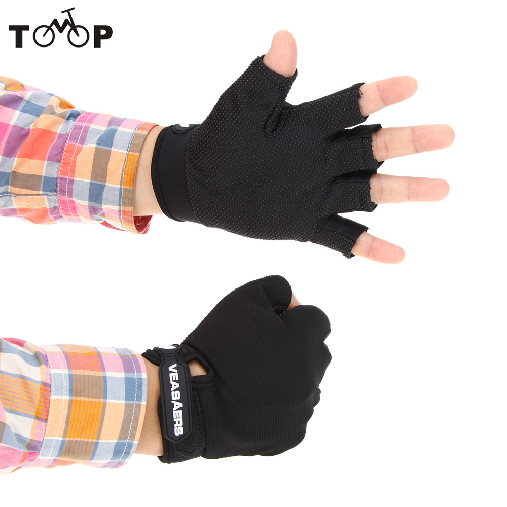 Mens leather gloves rei - Breathable Anti Slip Gloves Outdoor Sports Gloves Hiking Cycling Multifunction Half Finger Gloves China