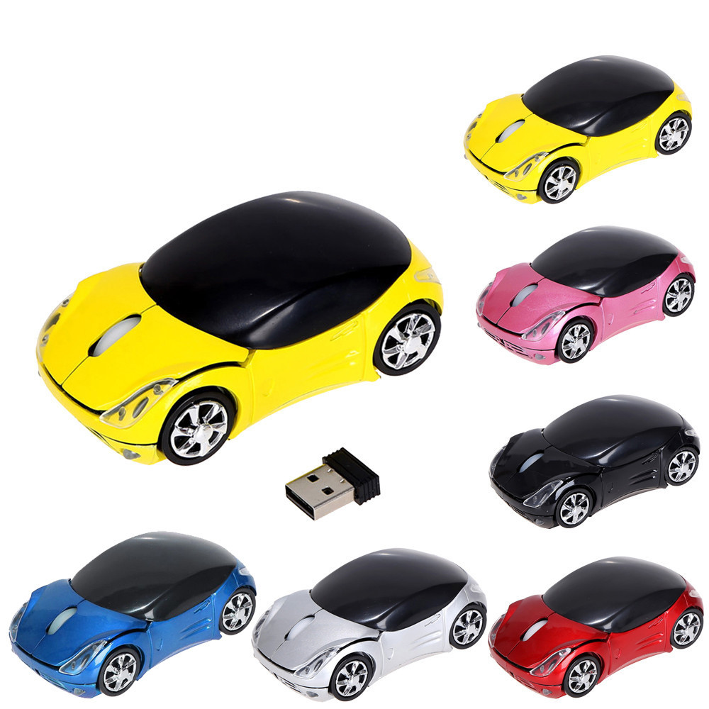 2.4GHz 1200DPI Car Shape Wireless Optical Mouse USB Scroll Mice for Tablet Lapto