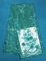8 colors option! beautiful JRB-71602 Nigerian Lace Fabric with sequins and beadsFor Wedding dress