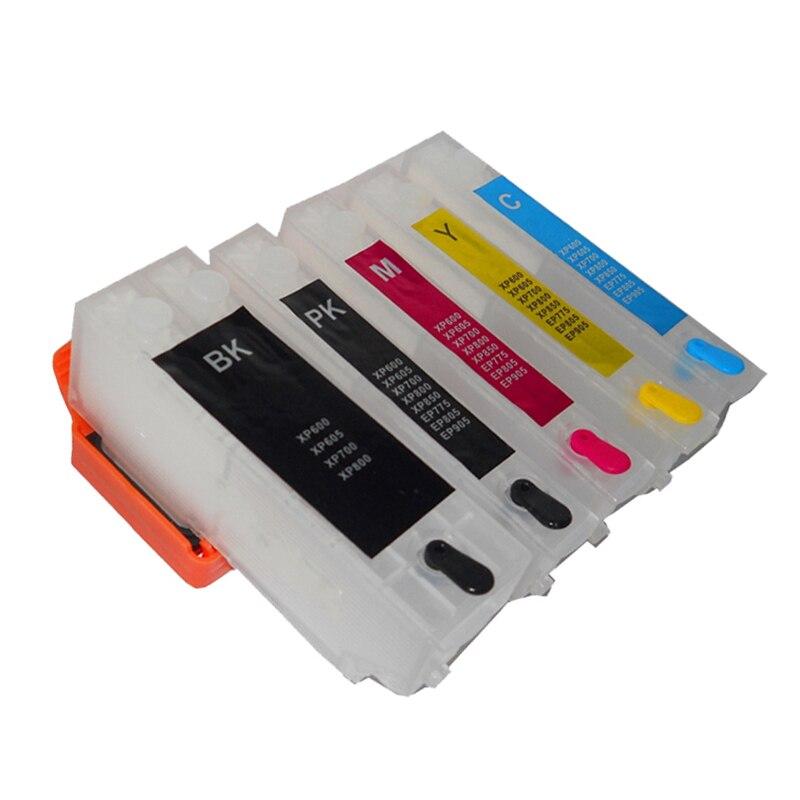 Vilaxh T2621 T26 T2631 Cartucho de Tinta Recarregáveis Para Epson Expression XP 510 600 605 610 615 710 810 XP-600 XP-605 XP-700 XP-800