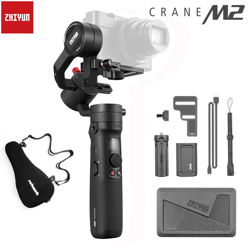 Zhiyun grue M2 3 axes cardans de poche pour Smartphones caméra sans miroir Action caméras compactes stabilisateur PK Feiyutech G6 Plus