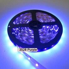 25M 5X 5M UV 395nm 3528 SMD Purple 300 LED Flex Strip Light Non-Waterproof 12V 1pcs 3528 1210 patch waterproof led soft light strip 30cm15 automobile 12v soft light strip