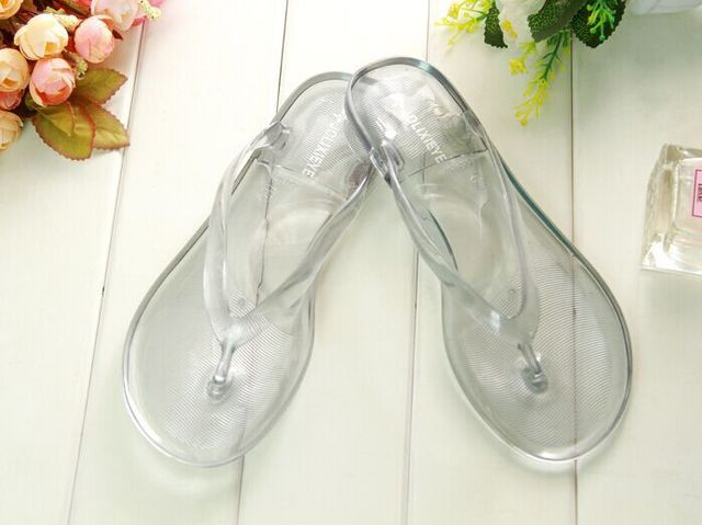612bf7e580b 2015 New women summer transparent clear plastic plain sandals beach shoes  for ladies flip flops slippers free shipping