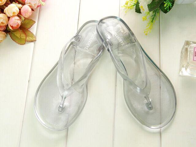 a32075da8 2015 New women summer transparent clear plastic plain sandals beach shoes  for ladies flip flops slippers free shipping