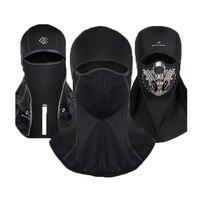 DEROACE Winter Warm Hood Men And Women Cycling Full Masks Face Ski Cold Hat Windshield Equipment Outdoor Windproof Warm Headgear