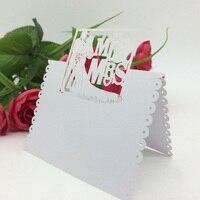 100 قطعة/المجموعة الليزر قطع حفل زفاف العروس والعريس بطاقة الاسم مقاعد بطاقة اسم الجدول الديكور الزفاف للولائم الإحسان