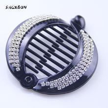 SHCXGQN Fish Hair Claw Clips Jewelry Banana Barrettes Hairpins Accessories For Women Clamp Full rhinestone DIY